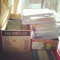 dokumenty w pudełku