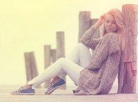 blondynka nad morzem