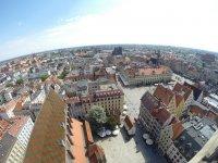 Widok z lotu ptaka na Wrocław